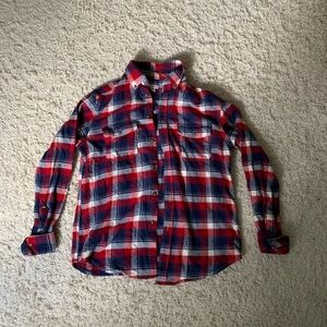 Merona Red White and Blue Flannel